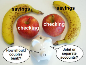 Fruit and piggy banks