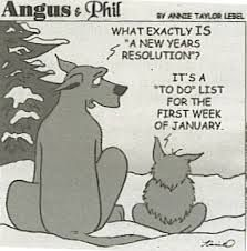 Cartoon NY resolutions