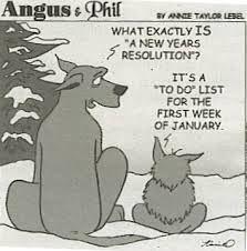Cartoon NY resolutions